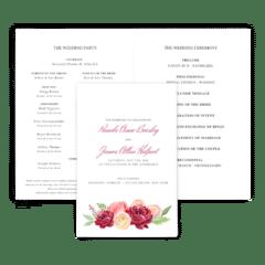 Free Editable Wedding Program • Nickell Collection • The Budget Savvy Bride